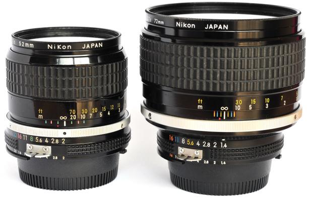 Nikkor 85mm f2.0 versus Nikkor 85mm f1.4